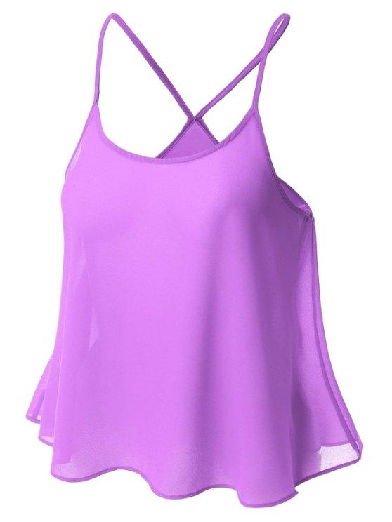 Color Caramelo gasa Cami - Púrpura XL