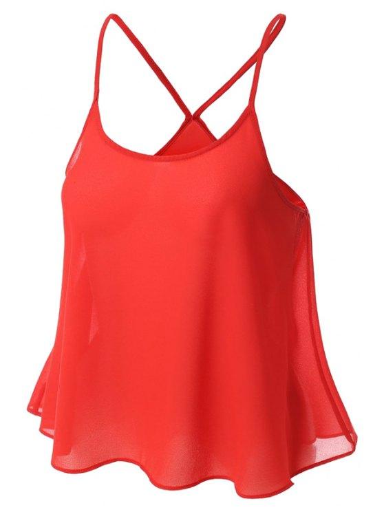 Color Caramelo gasa Cami - Rojo L