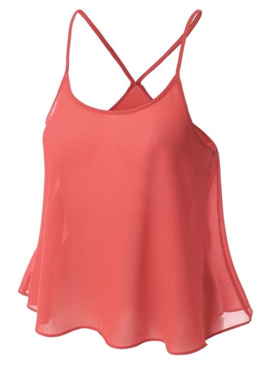 Color Caramelo gasa Cami - Sandia Roja XL