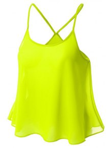 Candy-Colored Chiffon Cami Top