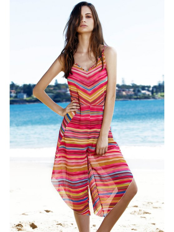 outfit Striped Colorful Playsuit - COLORMIX L