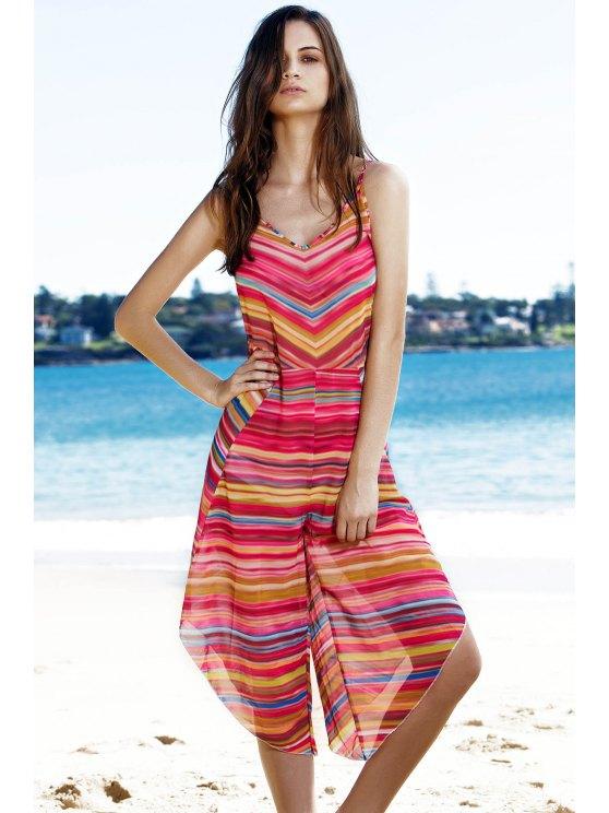 Salopette Colorful Striped - Multicolore L