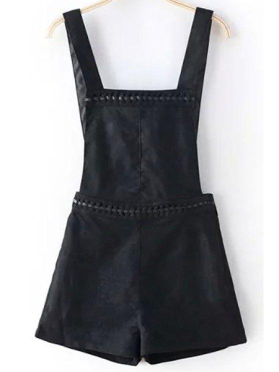 Solides Shorts Couleur Suede Total - Noir XL
