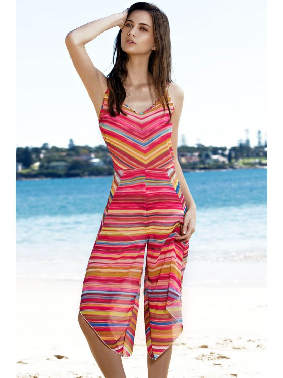 Striped Colorful Playsuit - COLORMIX L Mobile