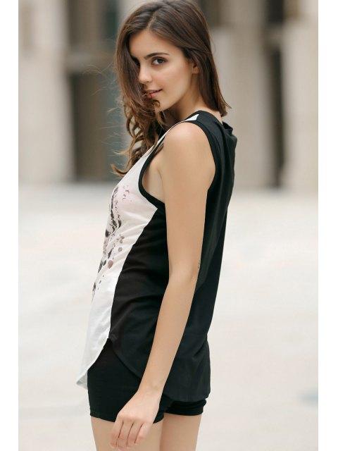 outfit Animal Print Round Neck Sleeveless Tank Top - WHITE M Mobile