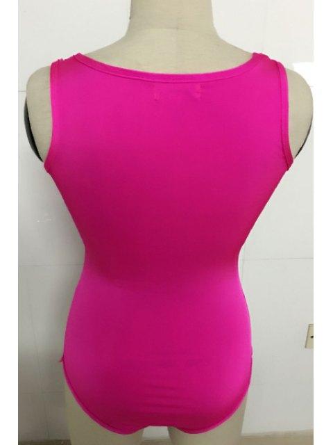 Lettre Imprimer Scoop Neck Bodysuit - Rose S Mobile