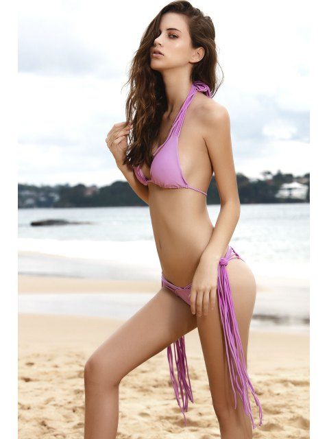 Violet Bikini String Set - Pourpre XL Mobile
