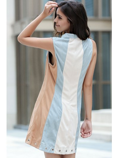 Cut Out Hit Color Round Neck Sleeveless Dress от Zaful.com INT