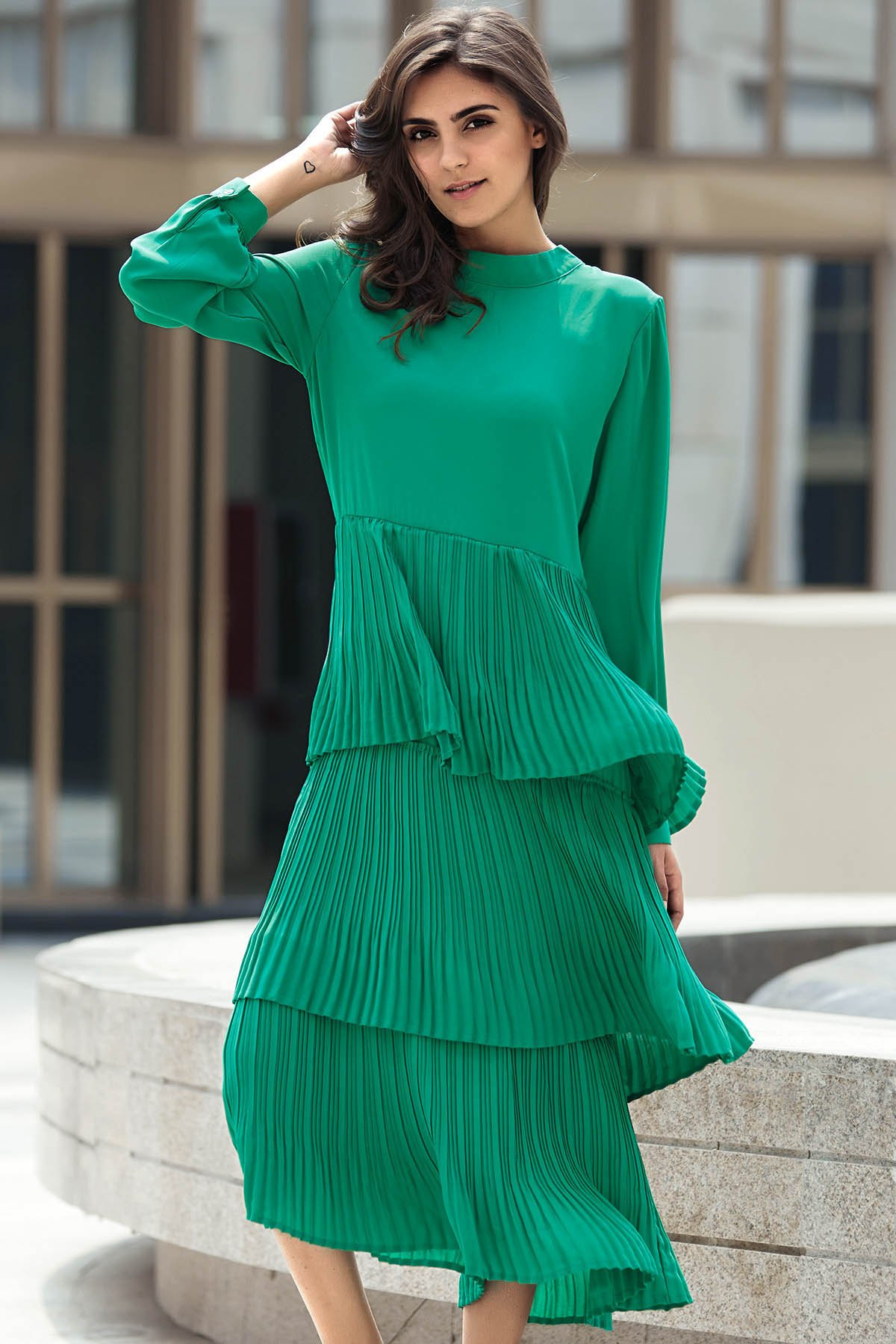 http://www.zaful.com/green-flounce-ruffles-round-neck-long-sleeve-dress-p_177247.html