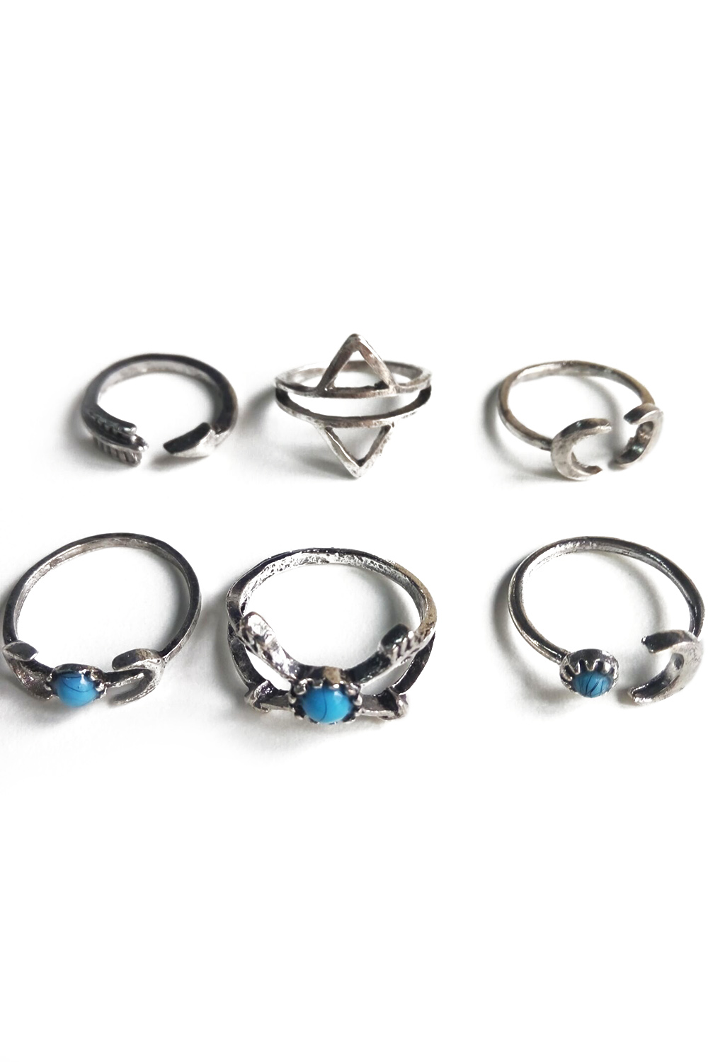 Moon Arrow Ethnic Style Rings