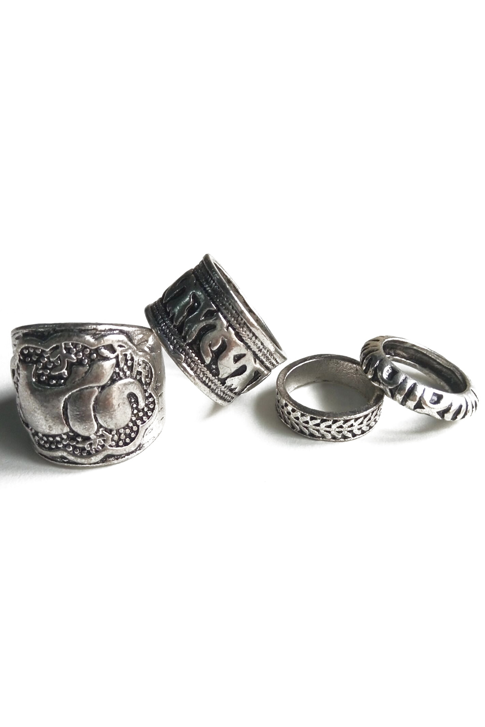 Elephant Head Cameo Ethnic Style Rings For Women