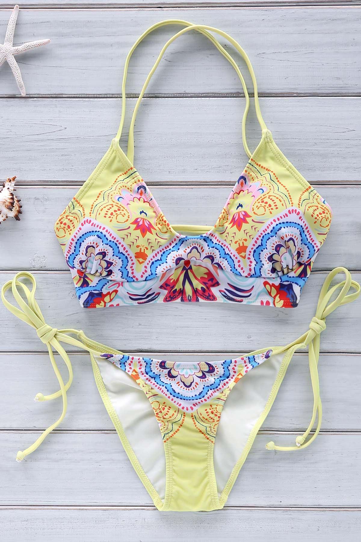 Cami Vintage Print Bikini Set