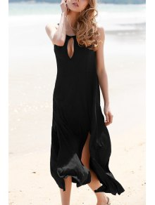 Keyhole Design Double Split Dress