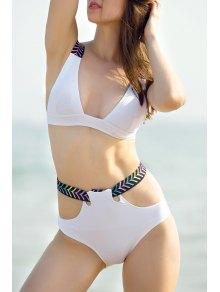 Cut Out High Waisted Bikini