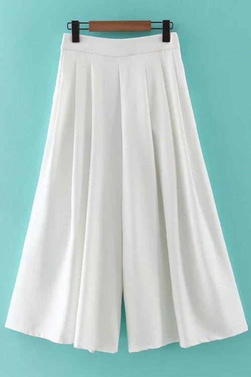 Hip Pockets Solid Color Culotte