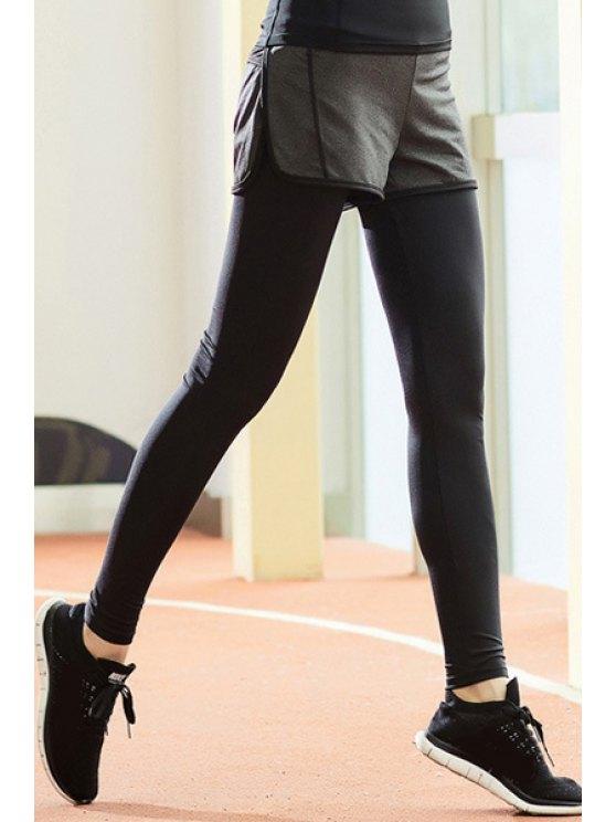 Layered Running Pants - BLACK M Mobile