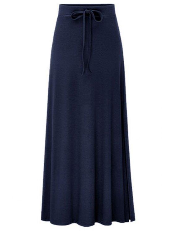Side Vent color sólido de la falda larga - Marina de Guerra L
