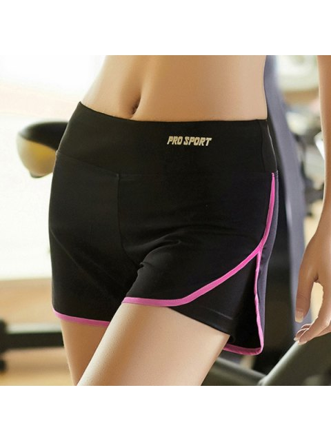online Skinny Multicolor Super-Elastic Sport Shorts - ROSE XL Mobile