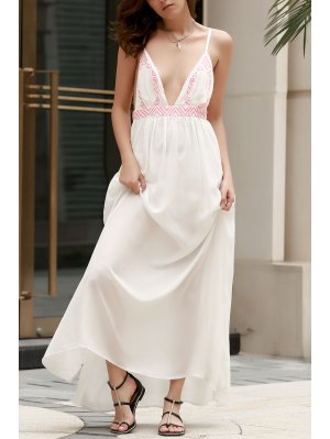 Spaghetti Strap Cami Maxi Dress - White S