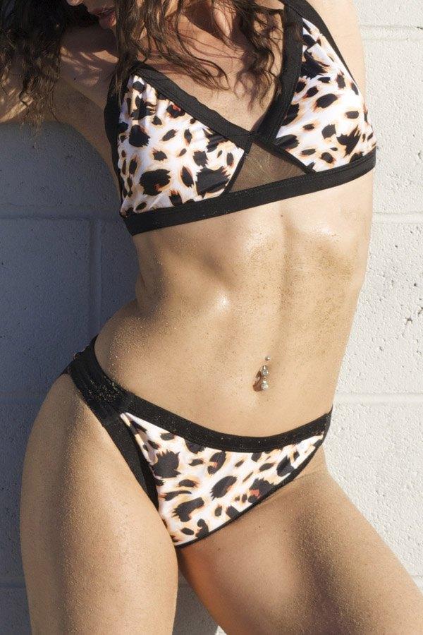 Cami Leopard Print Bikini Set