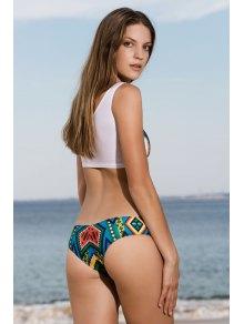 Straps Pineapple Print Tankini Swimwear - WHITE XL