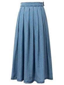 light blue high waist denim skirt light blue skirts l zaful