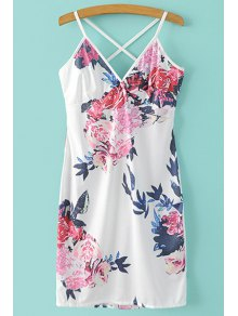 Mini Floral Print Spaghetti Straps Dress