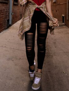 Hipster Slimming Leggings - Black