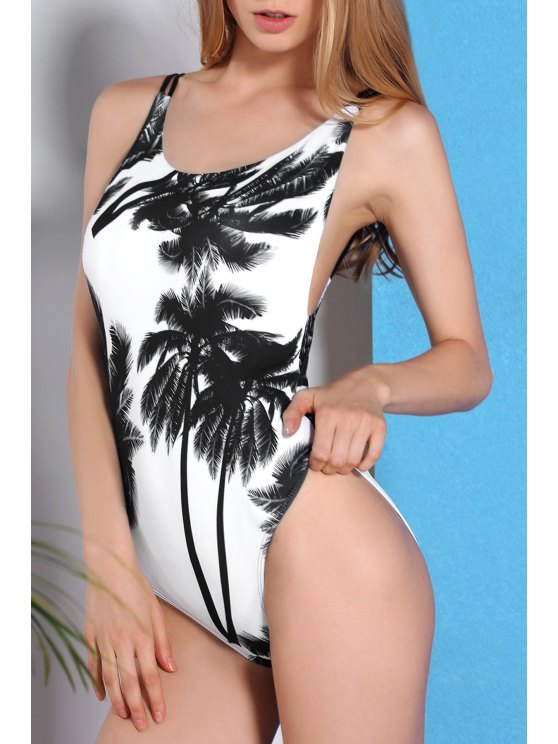 hot Coconut Palm One-Piece Swimwear - COLORMIX S