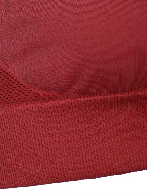 trendy Solid Color Sport Bra - DARK RED S Mobile