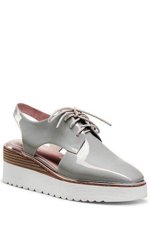 Lace-Up Design Platform Shoes For Women