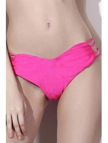 Solide Modèle De Coeur De Couleur Halter Bikini Set - Rose S