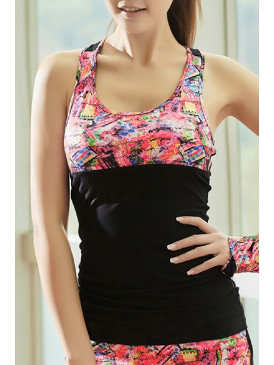 chic Crisscross Back Tight Fit Tank Top - BLACK L