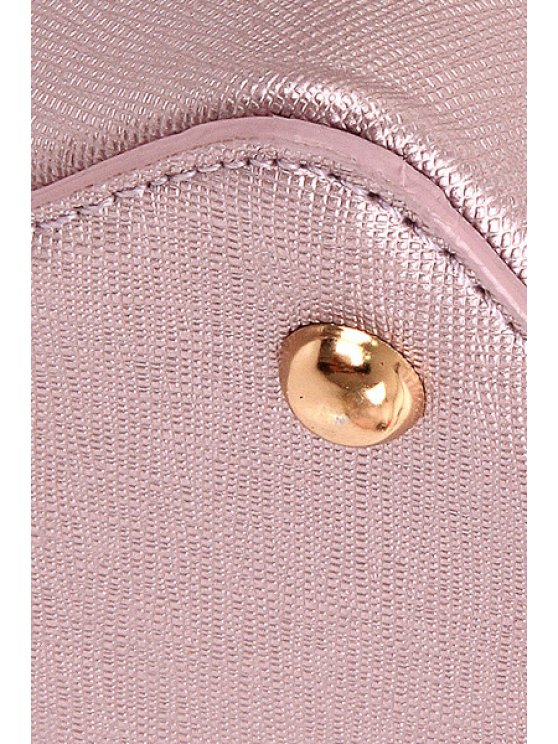 Sequined Bunny Ear PU Leather Crossbody Bag - PINK  Mobile