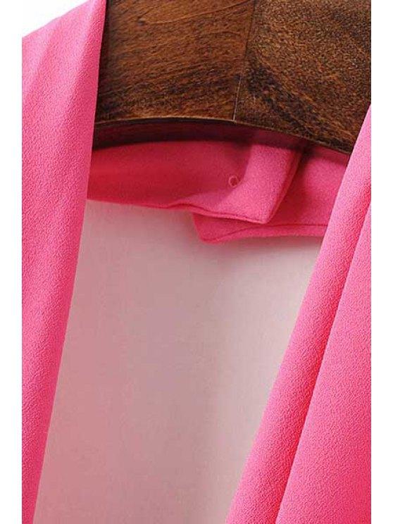 Backless Solid Color Plunging Neck Sleeveless Romper - BLACK M Mobile
