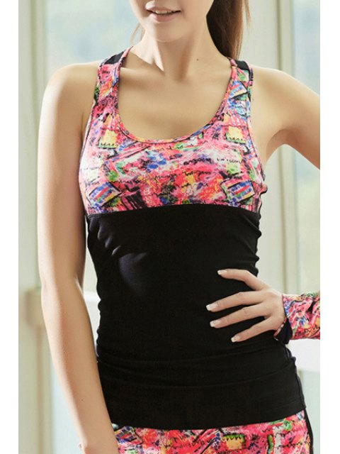 chic Crisscross Back Tight Fit Tank Top - BLACK L Mobile