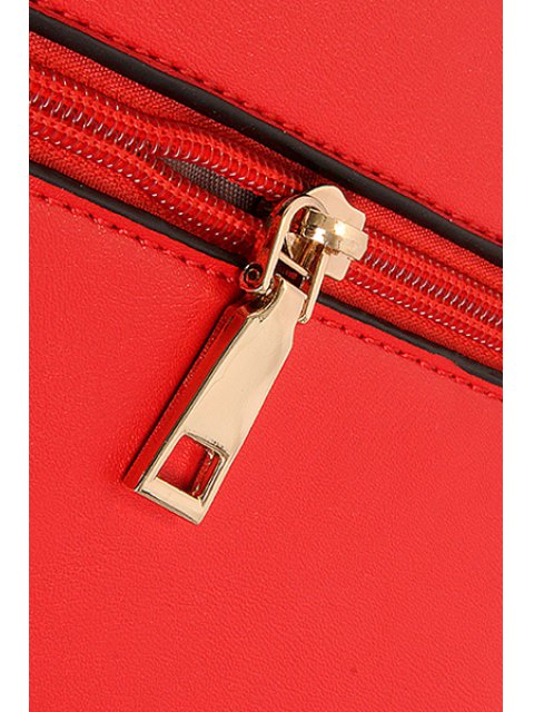new Metallic Chains PU Leather Crossbody Bag - OFF-WHITE  Mobile