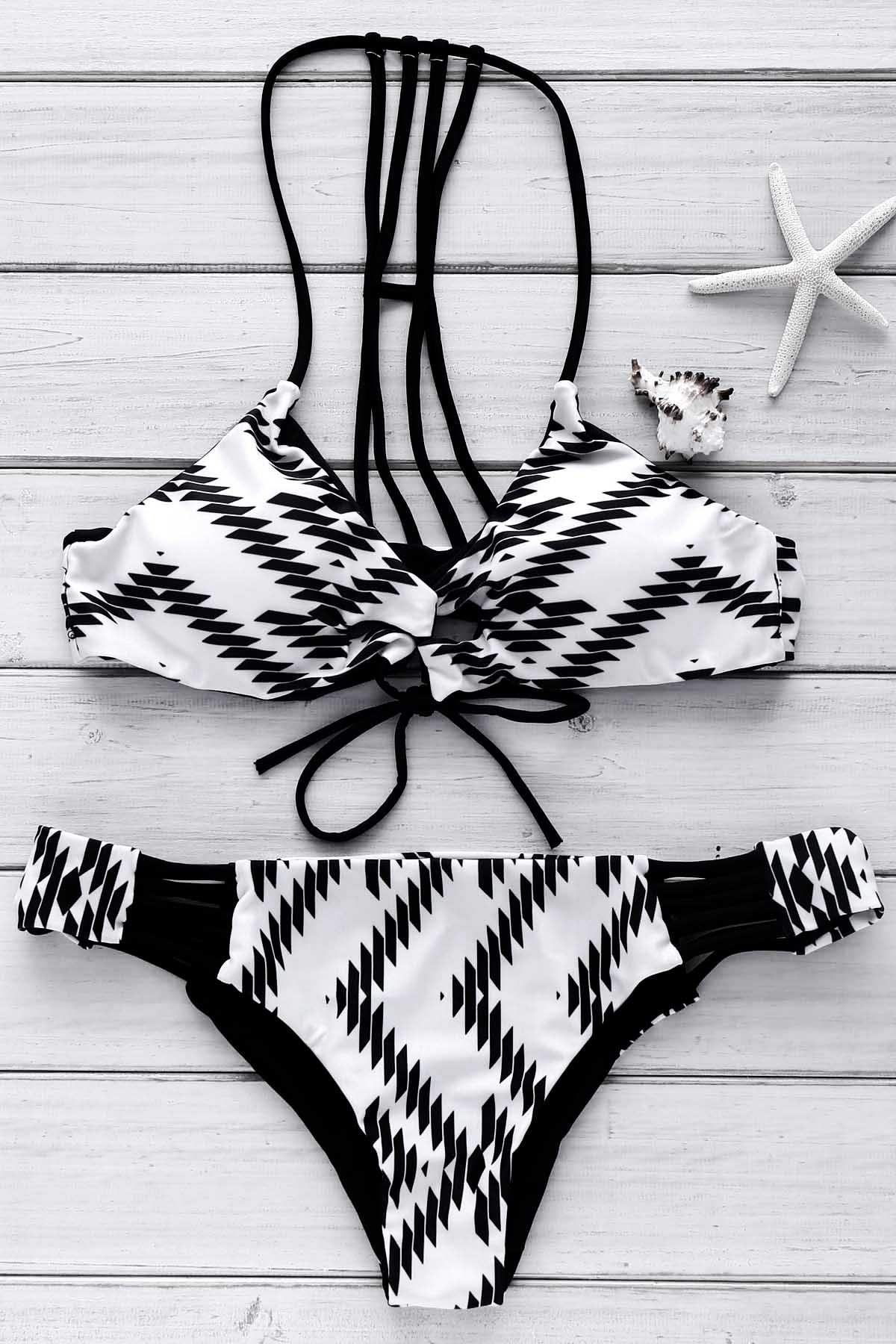 Cami Geometric Print Bikini Set
