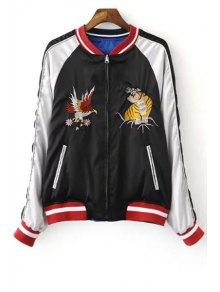 Embroidered Reversible Baseball Jacket