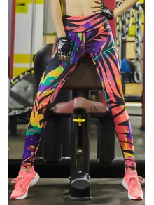 Geometric Print Tihgts Leggings - S