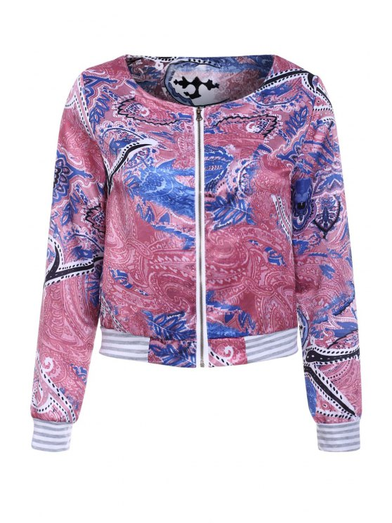 Colorful Printed Long Sleeve Jacket - COLORMIX XL Mobile