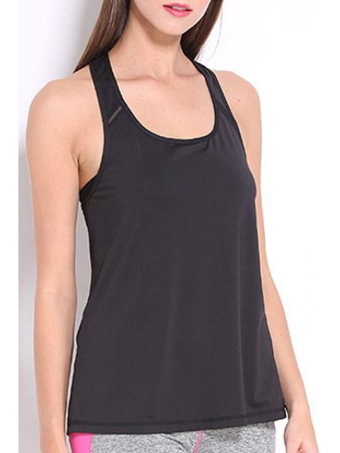 unique Racerback Tank Top - BLACK XL Mobile