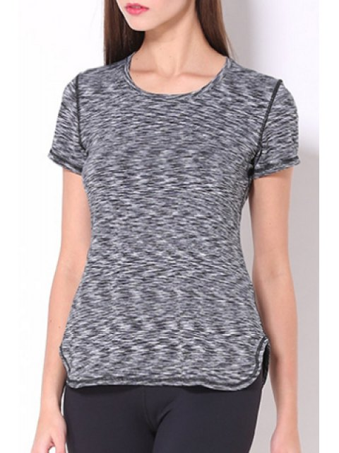 fancy Exposed Seams Quick Dry Top - GRAY S Mobile