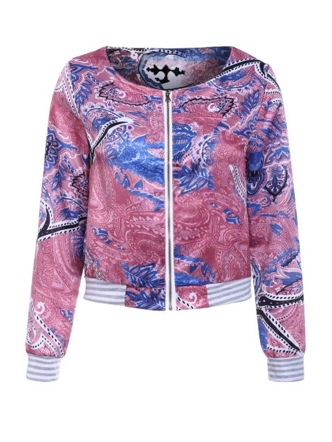 outfit Colorful Printed Long Sleeve Jacket - COLORMIX XL Mobile