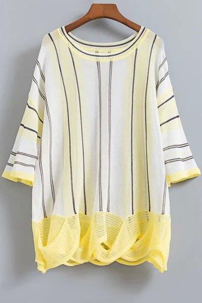 Striped Dropped Shoulder Knitwear