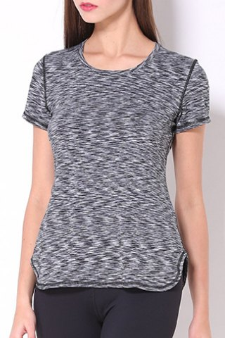 Scoop Neck Space-Dyed Yoga Top For Women