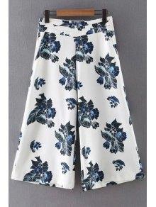 Floral Print Pantalón de pierna ancha