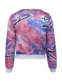 Colorful Printed Long Sleeve Jacket