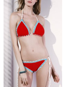 Crocheted String Bikini Set