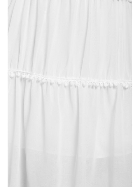 women's White With Lace Off The Shoulder Dress - WHITE L Mobile